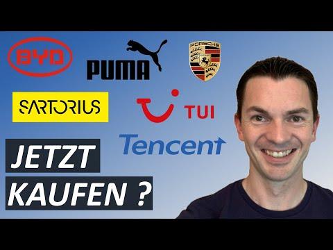 BYD, Puma, TUI, Porsche, Sartorius, Tencent Aktie jetzt kaufen? Aktienanalyse
