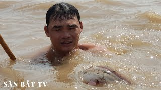 Đạp Hang Bắt Cá Ngát Kiếm Tiền Triệu| Săn Bắt TV