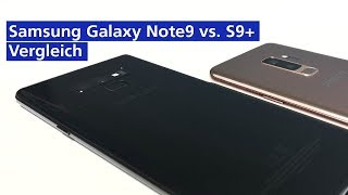 Samsung Galaxy Note 9 vs Galaxy S9 Plus im Vergleich (deutsch HD)