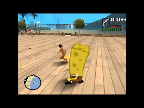 Sponge Bob MOD for GTA San Andreas