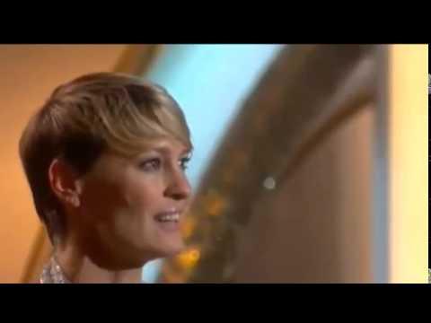 Robin Wright Wins Golden Globe Awards 2014 | HD