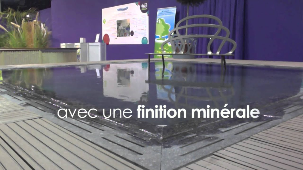 Piscine miroir min ral fond youtube for Piscine miroir fond mobile