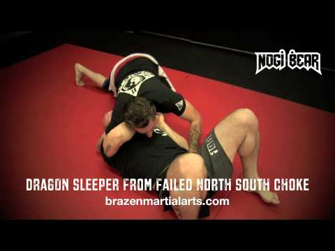 Dragon Sleeper from North South Position by Mickey Hall at Brazen Martial Arts - Nogi Bear™ CACC