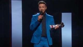 Justin Timberlake Tears Up Thanking Wife Jessica Biel at iHeartRadio Music Awards