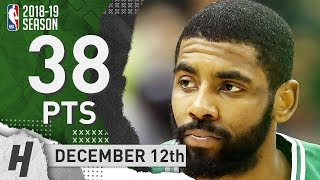 Kyrie Irving EPIC Highlights Celtics vs Wizards 2018.12.12 - 38 Pts, 7 Ast, 3 Reb, CLUTCH!