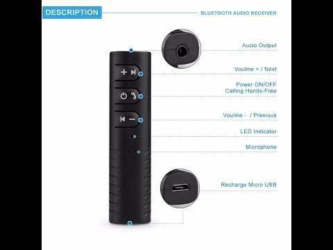 Review  Bluetooth –stereo  adapter  audio  receiver  3 5 mm Best  Bluetooth  transmitter