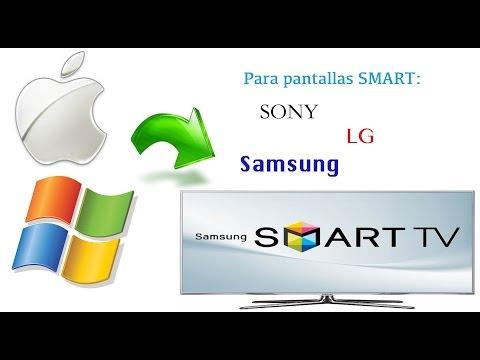 Conecta tu Mac/PC y Comparte Archivos a tu Smart TV sin Cables (Samsung, LG y Sony)