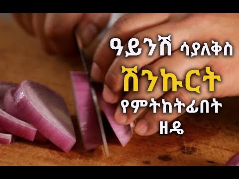 THE BEST WAYS TO CUT ONIONS WITHOUT CRYING | ዓይንሽ ሳያለቅስ ሽንኩርት የምትከትፊበት ዘዴ