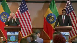 Secretary Tillerson holds a joint press availability with Ethiopian Foreign Minister in Addis Ababa