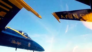 NICE! Sit in the COCKPIT of a BLUE ANGELS FIGHTER JET as it MANOEUVERS over majestic PUGET SOUND!