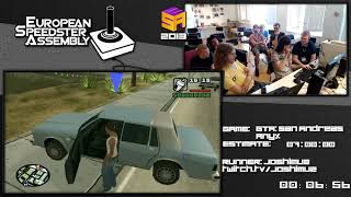 Part 1: GTA: San Andreas - World Record in 6:12:14 by Joshimuz Live European Speedster Assembly 2013