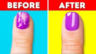 17 COOL MANICURE AND NAIL HACKS