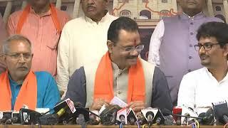 Alpesh Thakor joins BJP with aide Dhavalsinh Zala at Gujarat BJP headquarters Kamalam