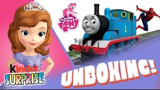 Sofia the First Spiderman MLP My Little Pony Thomas and Friends Kinder Surprise Eggs Kids Toys