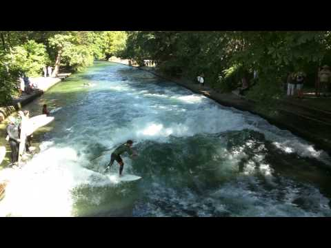 Surfboarding in Munich City