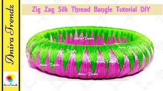 Zic Zag Weaving Silk thread bangle zigzag ziczag Zig Zag Bangle