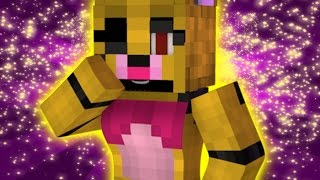 """FNAF World Five Nights in Anime - """"ANIME GOLDEN MANGLE"""" (Minecraft Roleplay) Night 33"""