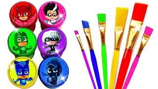 PJ Masks Drawing and Painting with Rainbow Colors for Kids