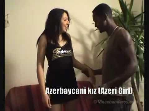 Azeri Kizi Leyla Aliyev Лейла Алиева With Black Boy video