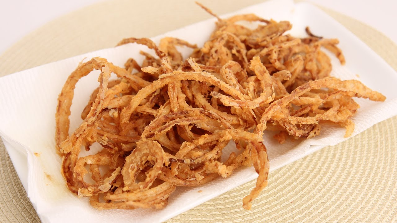 French Fried String Onions Recipe - Laura Vitale - Laura in the ...