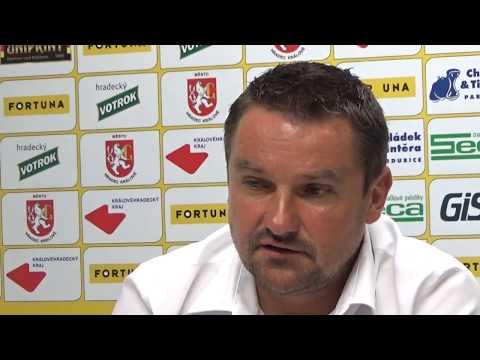 Tisková konference po utkání FC Hradec Králové - FC Sellier & Bellot Vlašim 2:1