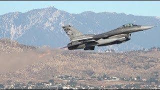 F-16 Viper Afterburner Takeoffs - March ARB