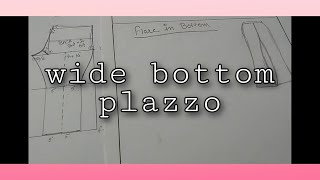 Flared palazzo in a very simple way || drafting for flared palazzo