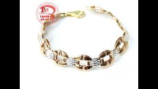 Lắc tay nữ vàng 18k sang trọng, lắc tay đẹp, lắc tay thời trang, Mã số: TSVN011397