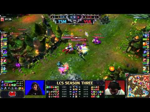 TSM vs Vulcun - LCS 2013 NA Spring W1D1 (English)