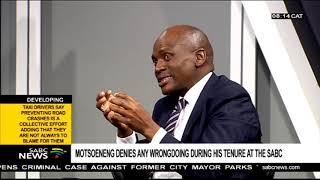 Motsoeneng denies any wrongdoing during his tenure at the SABC  Part 2
