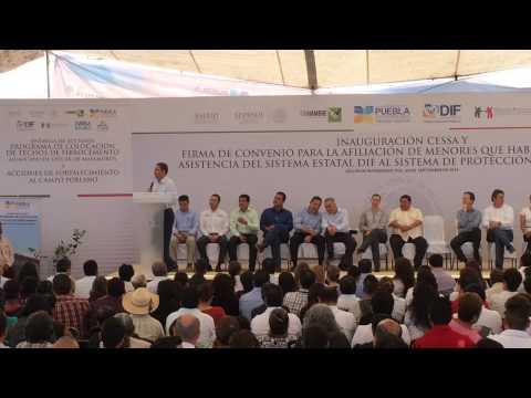 RMV entrega obras de infraestructura en Izucar de Matamoros