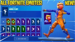 "*NEW* BEEF BOSS ""Durrr Burger"" SKIN SHOWCASE WITH ALL FORTNITE DANCES & EMOTES!"