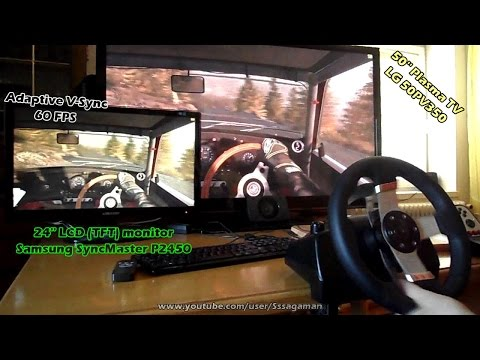 Gaming on Plasma TV vs LCD | INPUT LAG Test | Logitech G27 wheel | DiRT Rally, rF2, Assetto Corsa