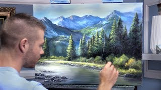 Evergreen Forest & Large Mountain | Paint with Kevin ®