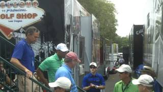 Tiger Woods Signing Autographs