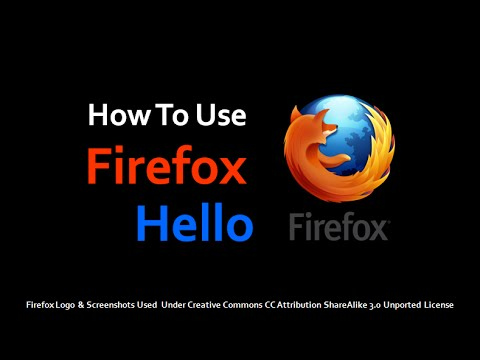 How to Use Firefox Hello