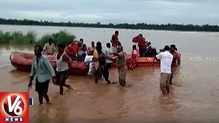 NDRF Team Rescue 52 Labors Trapped in Vamshadhara River | Srikakulam