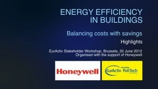 Energy efficiency in buildings - Balancing costs with savings