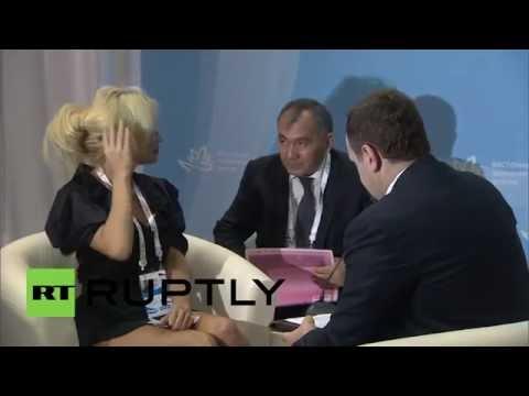 Russia: Pamela Anderson talks environmentalism at Eastern Economic Forum