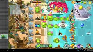 Plants vs Zombies 2 - Big Wave Beach Part 2 Day 32 BWB Zomboss - Zombot Sharktronic Sub Plants vs Zombies 2
