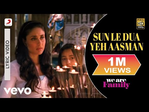 We Are Family - Sun Le Dua Yeh Aasman Lyric | Kareena Kajol