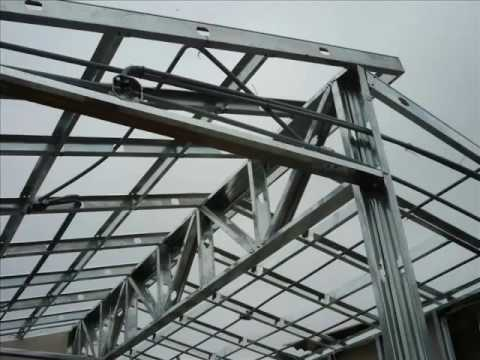 Casa de drywall 70m2 youtube for Techos en drywall para casas