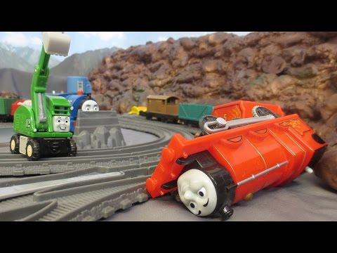 James Accident Thomas & Friends Trackmester fun. Wypadek Kuby zabawa kolejką Tomek i Przyjaciele