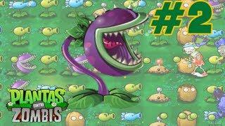 Plantas contra Zombis #2 - Plantas come plástico