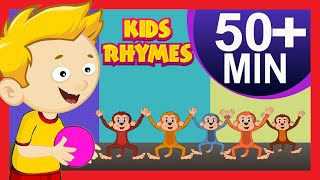 Five Little Monkeys Nursery Rhymes and More   Nursery Rhymes Playlist For Children   Poem Collection