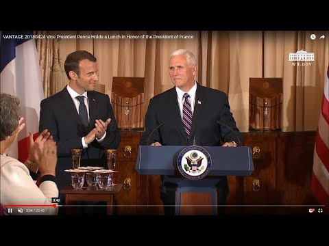 Vice President Pence Holds a Lunch in Honor of the President of France