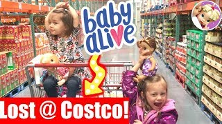 🛍 Baby Alives Shops at Costco + GETS LOST! 😳 Cute Hairstyles Finds a Dress! 👗 Baby Alive Video💖