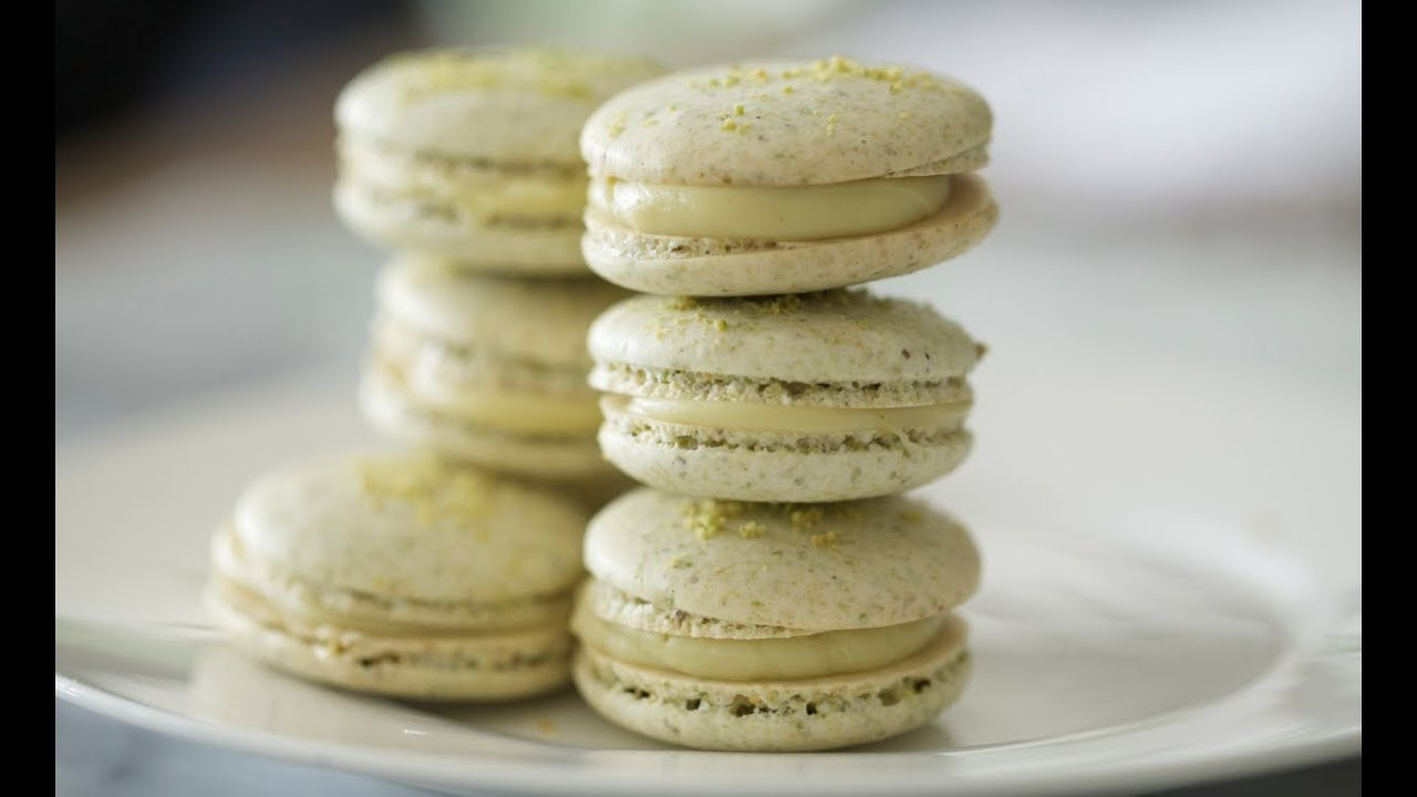 Pistachio Macarons Recipe — Dishmaps