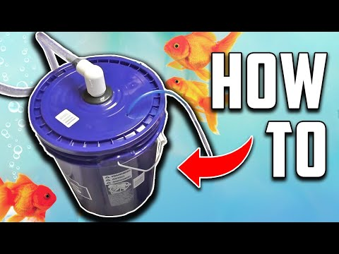 DIY Aquarium Bucket Filter. Fish Tank/Pond Canister Filter. Home Made Bioball Tower filter.