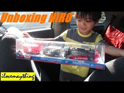 Unboxing Snow Clearing HIRO - Thomas Trackmaster Motorized Engine